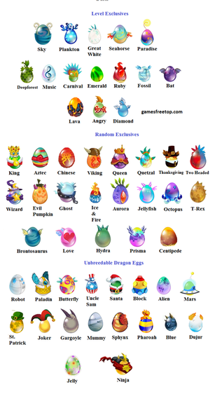 Breeding Chart Dragon City Game Guide